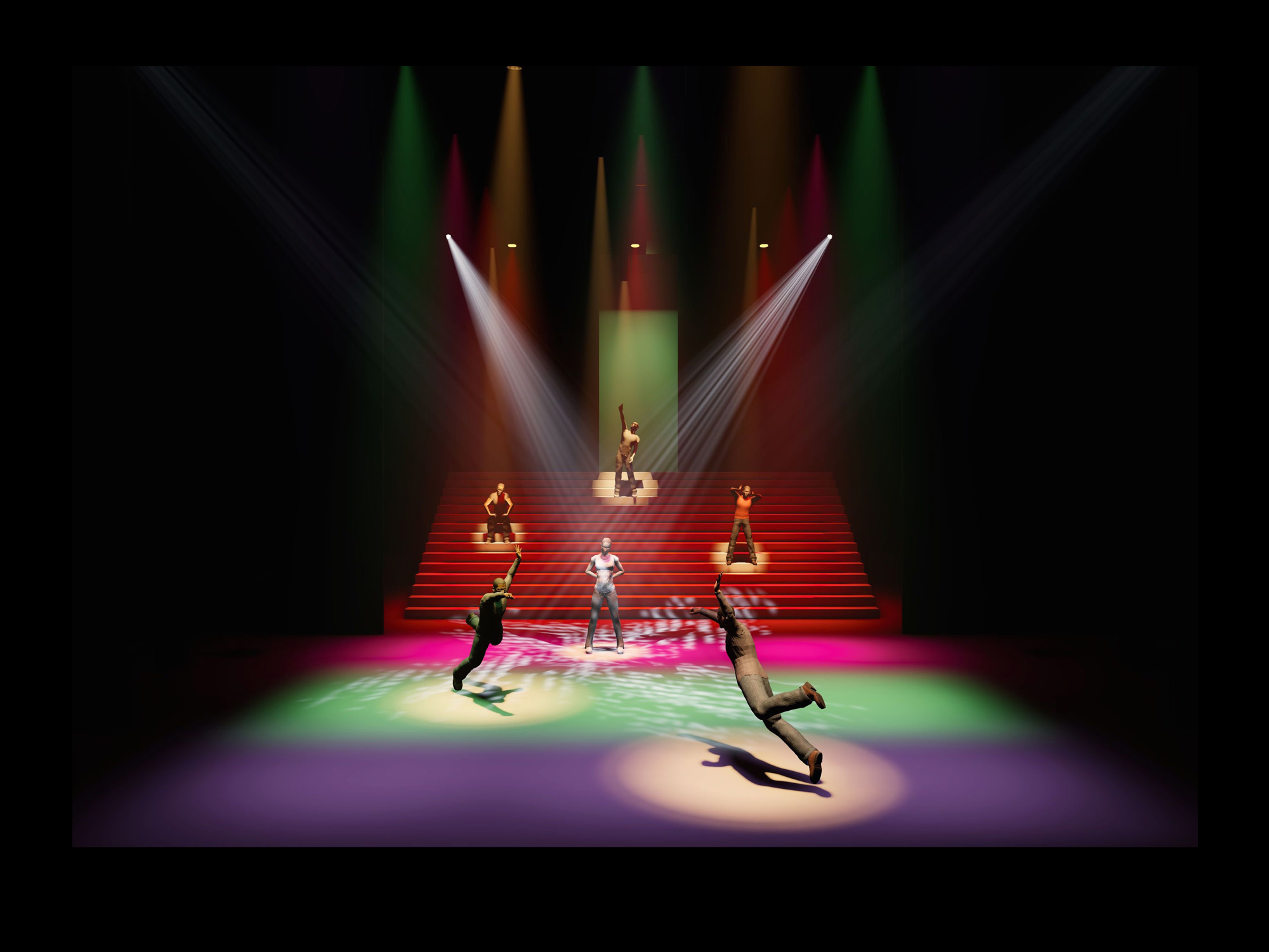 Free lighting design visualizer pre visual d renderings for stage